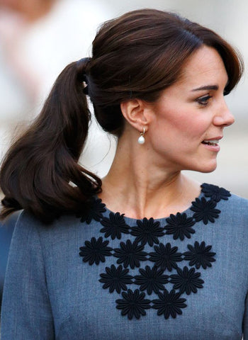 Royal hairstyles - hair to hide the elastic part