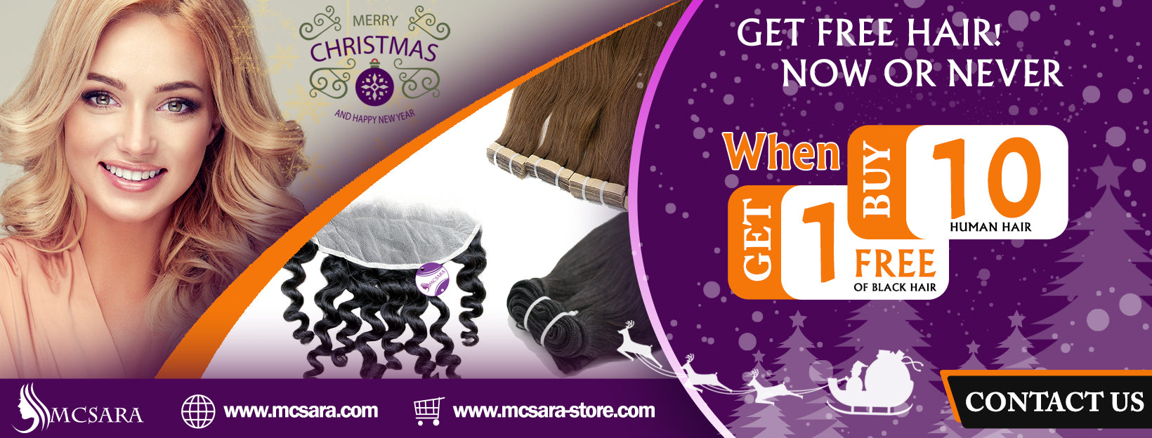 Sale off human hair of MCSARA - Merry Chrismast and happy newyear 2020