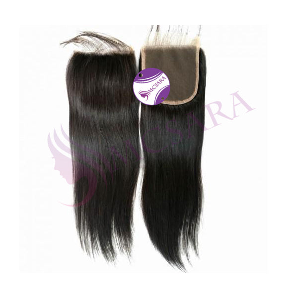 Closure (4x4) straight hair black color