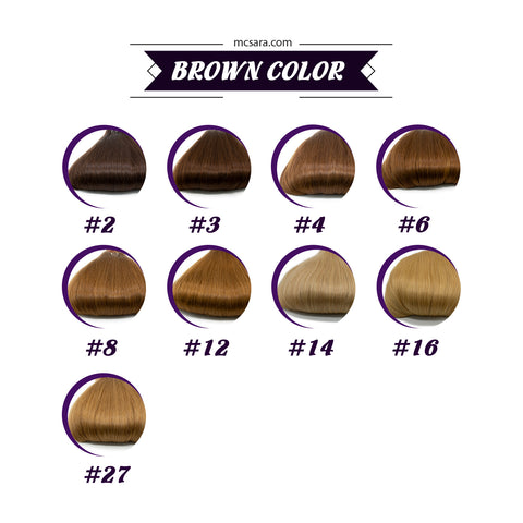 brown color chart for MCSARA hair