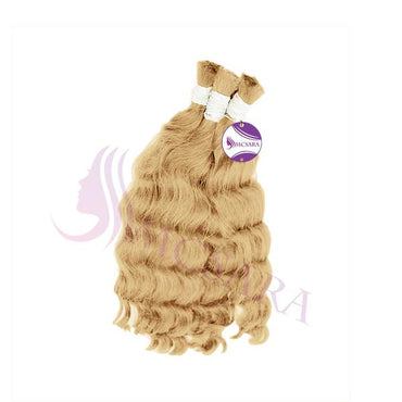 Bulk wavy hair blonde color A