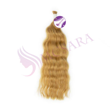 Bulk body wavy hair extension color #18c - MCSARA HAIR