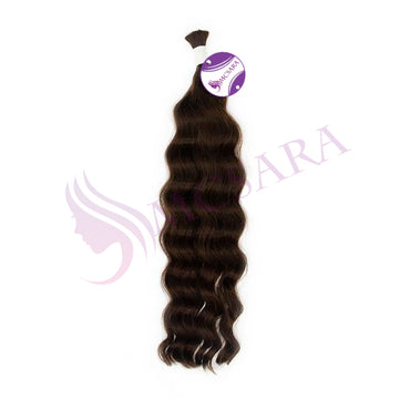 Bulk  body wavy hair brown color #4 - MCSARA HAIR