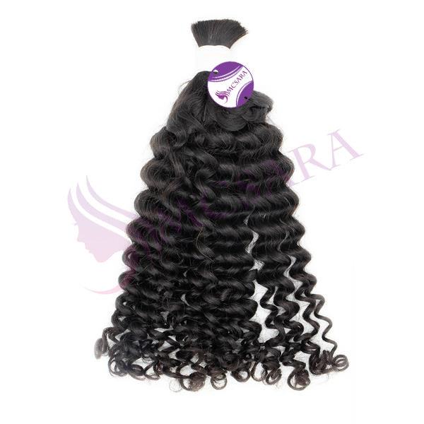 Bulk curly hair black color A+