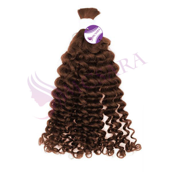 Bulk curly hair brown color A+