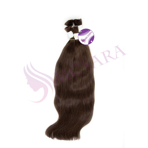 Bulk straight hair dark brown color A