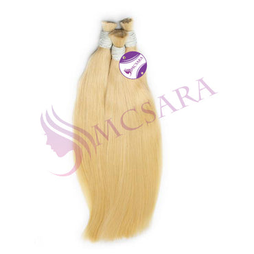 Bulk straight hair blonde color A++ - MCSARA HAIR