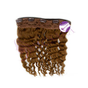 Clip in body wavy hair light brown color #27 - MCSARA HAIR