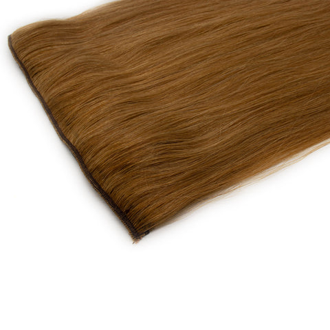 Clip in straight hair light brown color #27