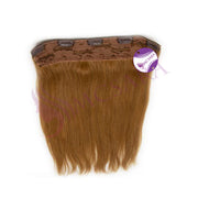 Clip in straight hair light brown color #27 - MCSARA HAIR