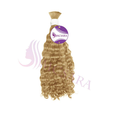 Bulk deep wavy hair blonde color A++ - MCSARA HAIR