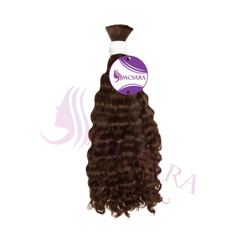 bulk double drawn brown wavy hair