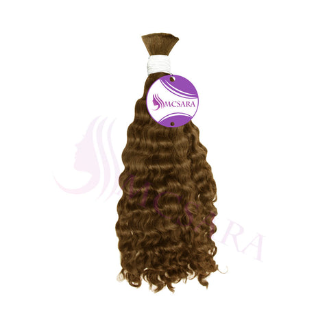 bulk double drawn wavy brown hair