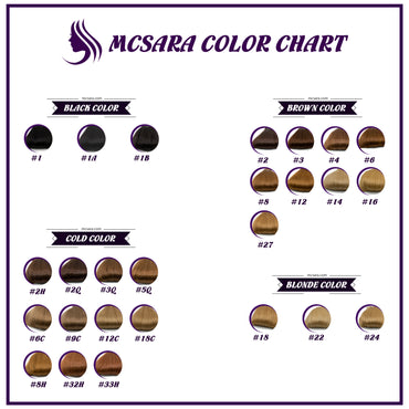 Hair Color Chart of MCSARA