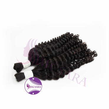 Bulk deep curly hair black color A++ - MCSARA HAIR