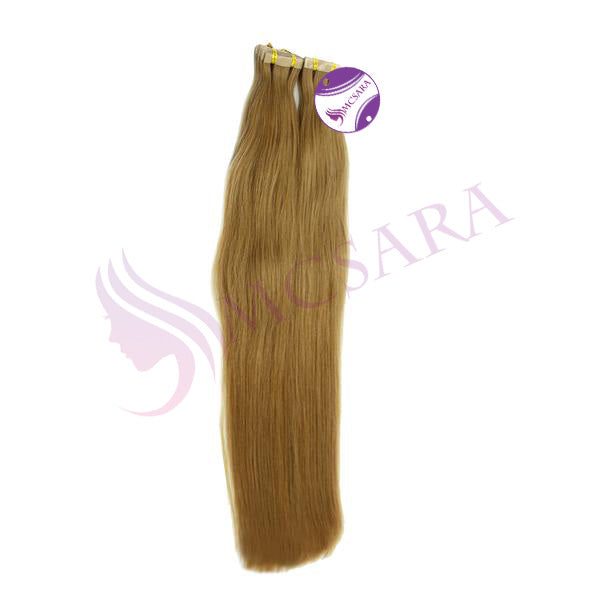 Tape in straight hair light brown H color