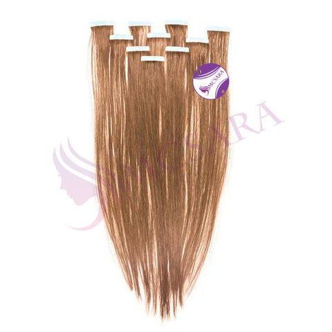 Tape in straight hair light brown color