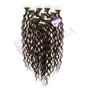 Tape in curly hair black color - MCSARA HAIR