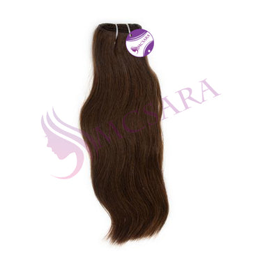 Weave straight hair brown color #2
