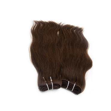 Weave straight hair dark brown color #2
