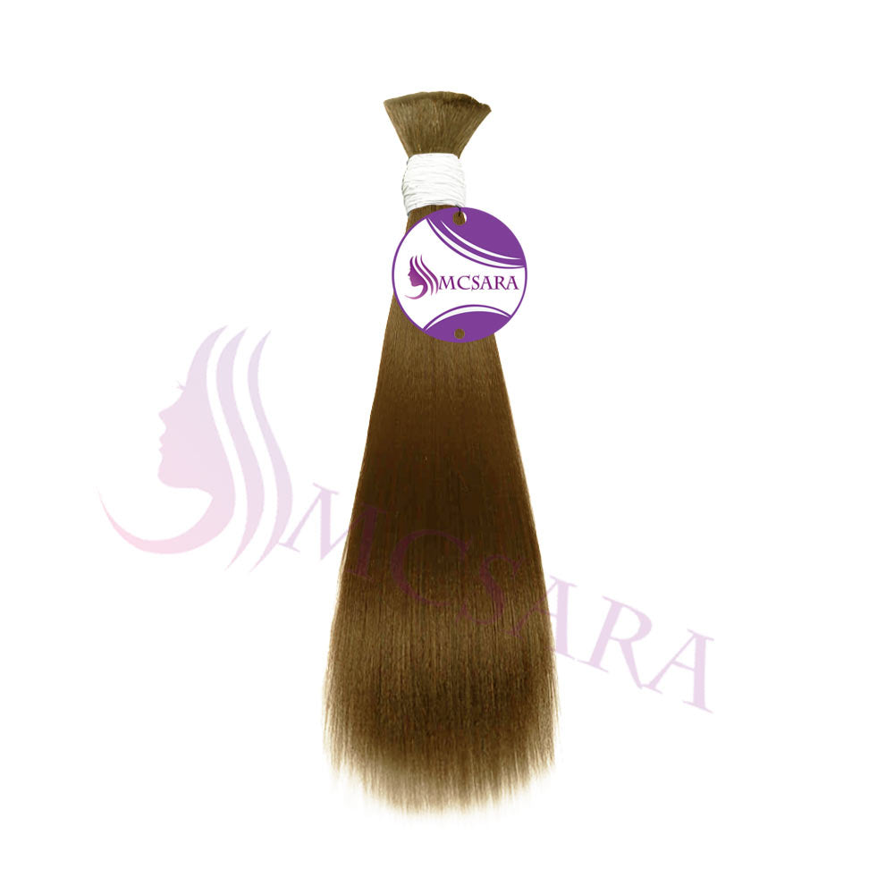 Bulk straight hair blonde H color A+