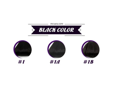black wig color chart