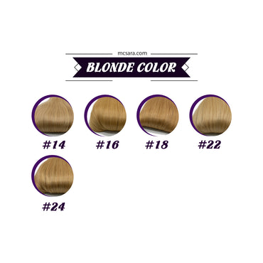 Clip in kinky straight hair Blonde color - MCSARA HAIR