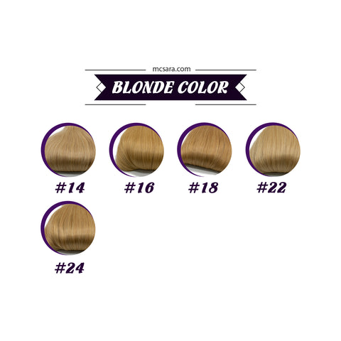 Closure (13x4) wavy hair extensions blonde color