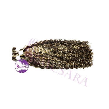 Bulk deep curly piano hair #2 - #613 color A++ - MCSARA HAIR