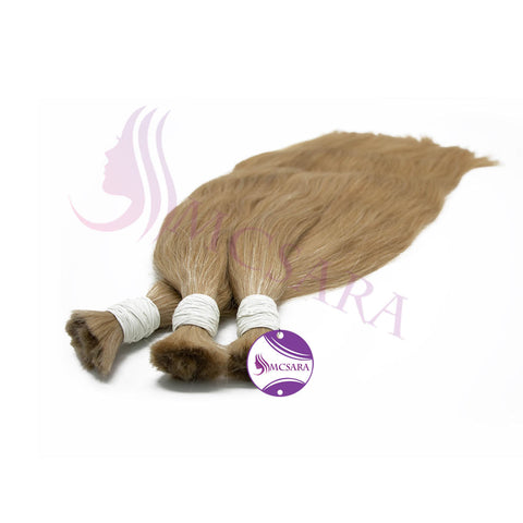 Bulk straight hair light brown cold color A++