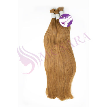 Bulk straight hair blonde cold color A