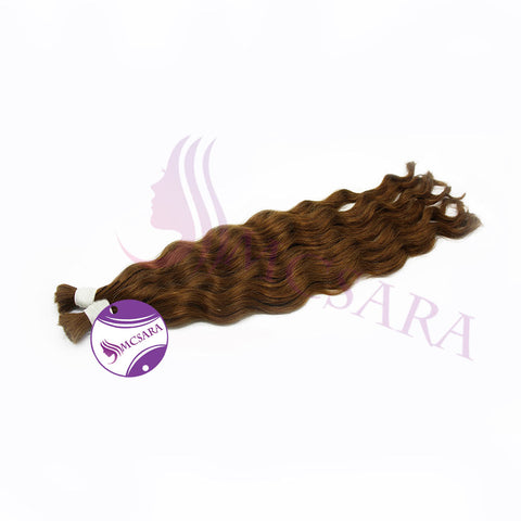Bulk body wavy hair light brown color A++ - MCSARA HAIR