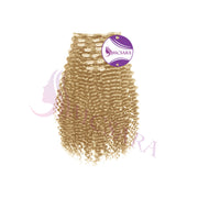 Clip in deep curly hair Blonde color