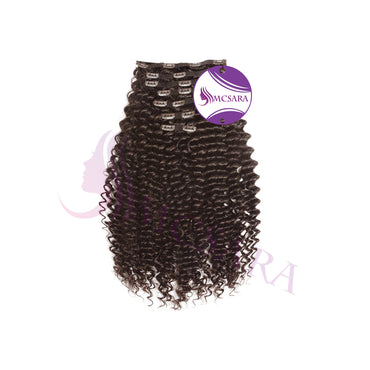 Clip in deep curly hair brown color