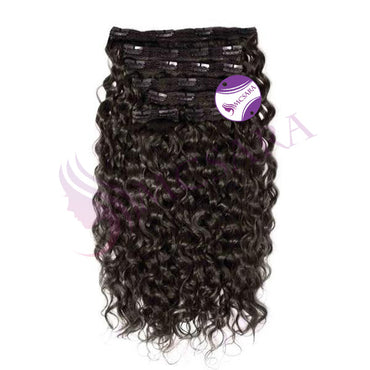 Clip in kinky straight hair black color - MCSARA HAIR