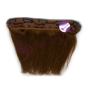 Clip in straight hair light brown color #6 - MCSARA HAIR