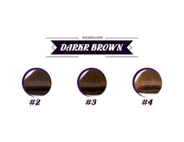 dark brown wig color chart