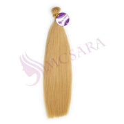 Flat tip straight hair blonde color - MCSARA HAIR