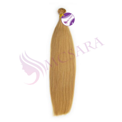 Flat tip straight hair blonde color #18