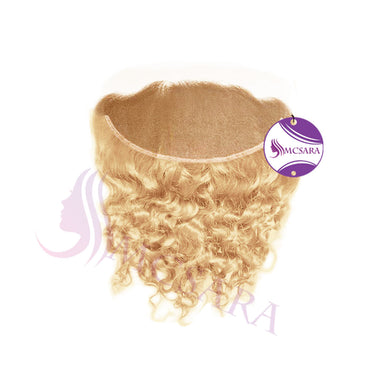 Closure (13x4) curly hair blonde color