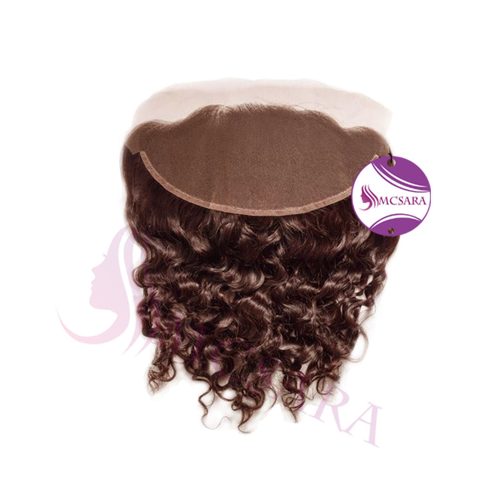 Closure (13x4) curly hair dark brown color
