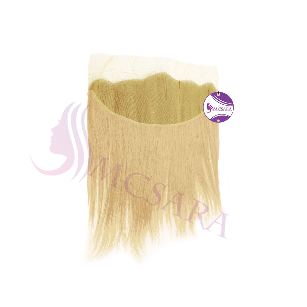 Closure (13x4) straight hair blonde color