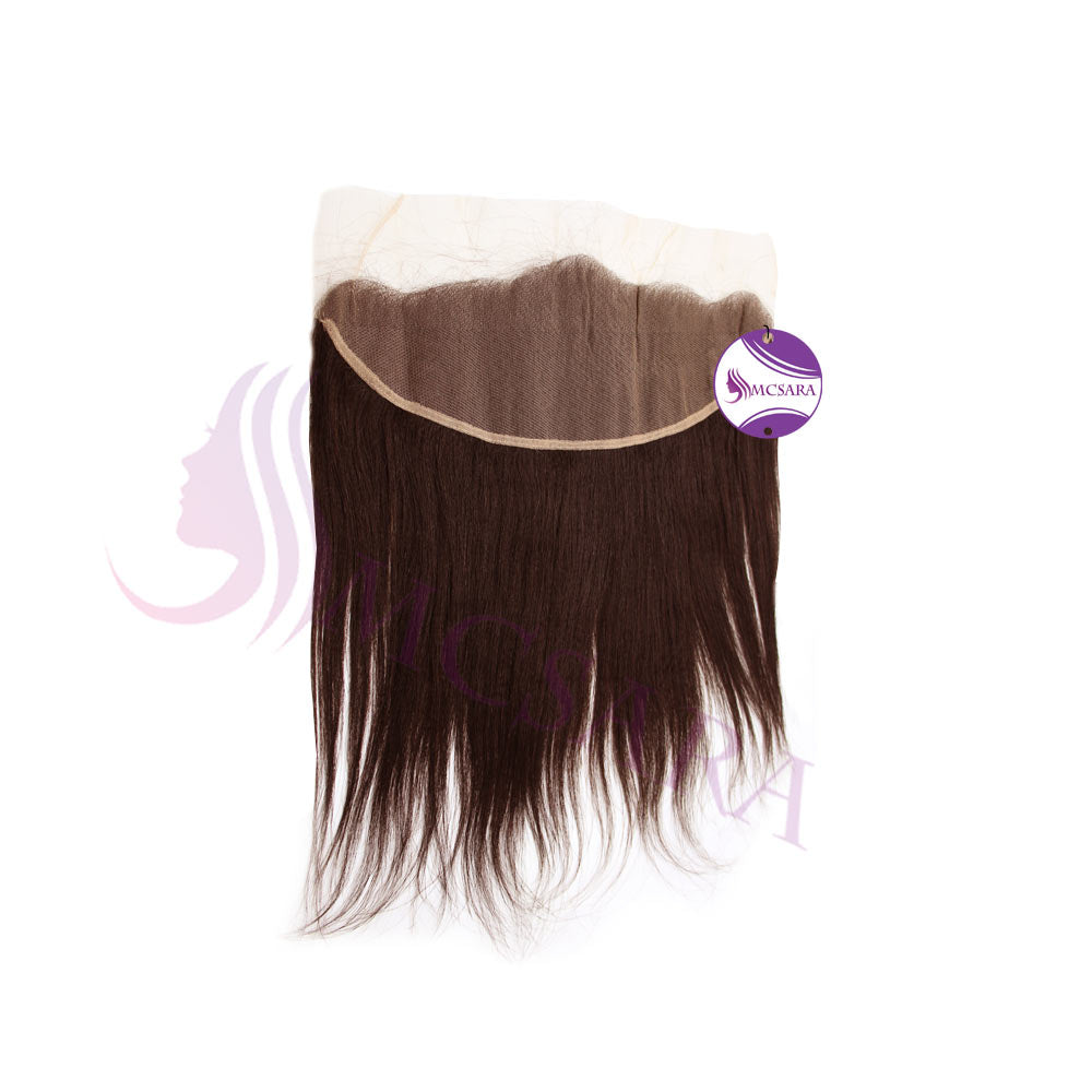 Closure (13x4) straight hair brown color