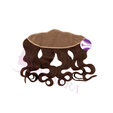 Closure (13x4) wavy hair brown color