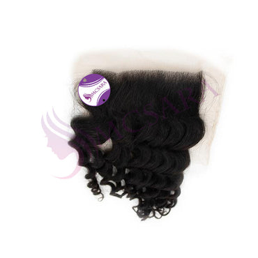 Closure (13x4) curly black hair extensions