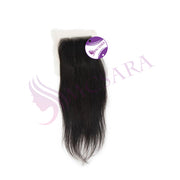 Closure (5x5) straight hair black color - MCSARA HAIR