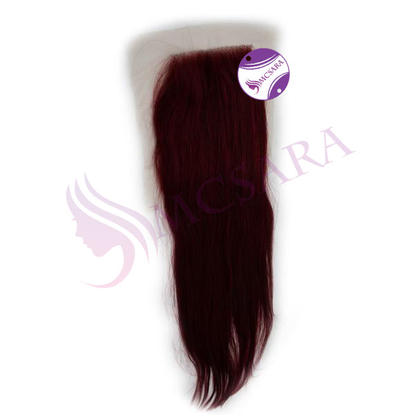 Closure (4.5x5.5) straight hair red color