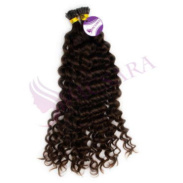 I tip curly hair brown color