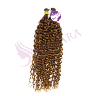 I tip curly hair light brown color