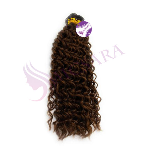 I tip deep curly hair dark brown color #4
